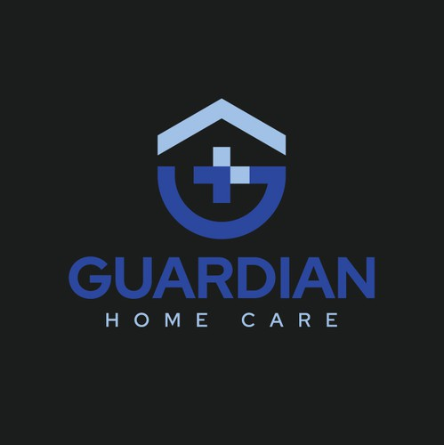 Care brand with the title 'Guardian Home Care Logo Design'