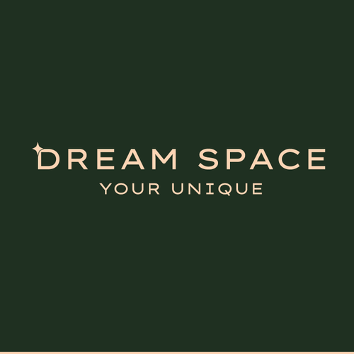 Dark green design with the title 'Dream Space logo'