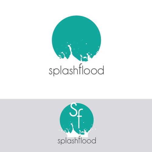 Sky blue logo with the title 'Splash app logo for Entertainment & The Arts Co. '