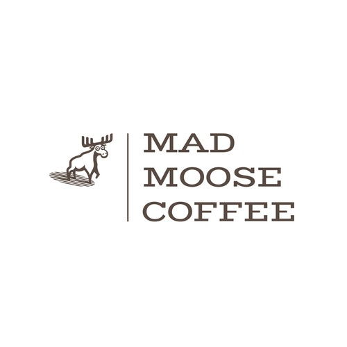 Mad design with the title 'Vintage looking logo for Mad Moose Coffee'