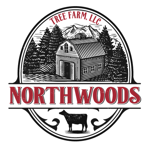 Classic logo with the title 'tree farm logo'