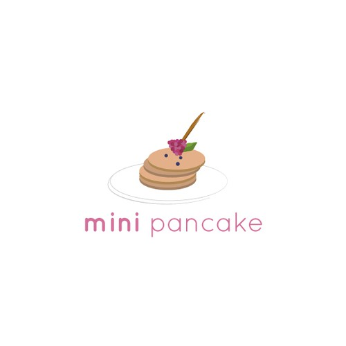 Mini logo with the title 'Mini pancake kiosk logo'