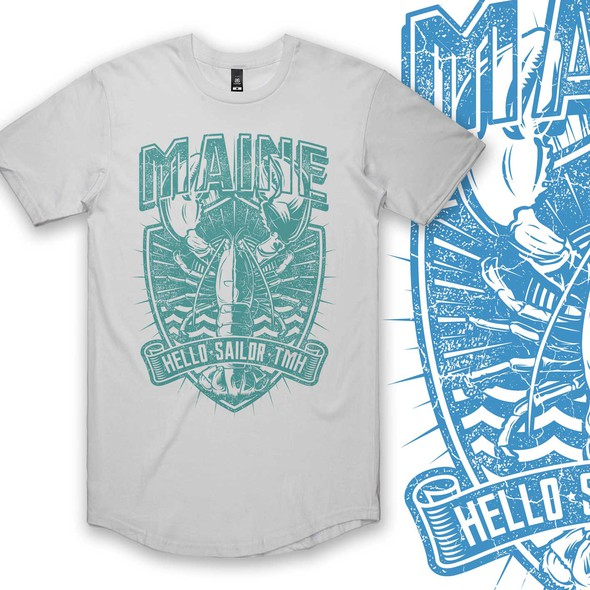 Maine design with the title 'LOBSTER'