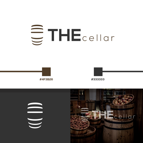 Cellar design with the title 'THE cellar'