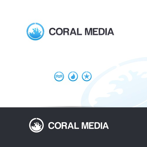 Reef logo with the title 'Coral Media'