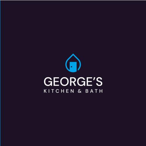 Door design with the title 'Representative logo for kitchen & bath showroom: George's Kitchen & Bath'