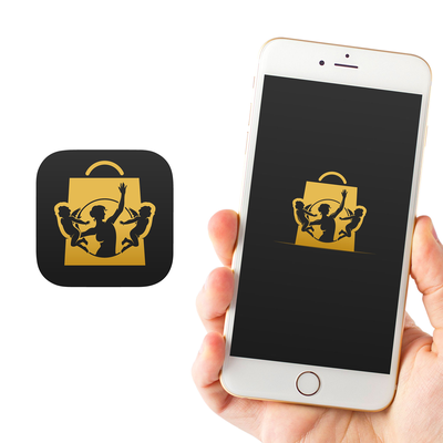 Eye-catching app icon for an online marketplace