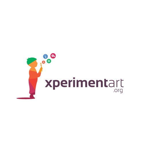 Children's design with the title 'xperimentart.org'