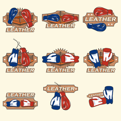 Vintage design with the title 'Striking App Motif for Boxing Game'