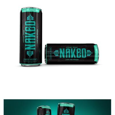Naked Energy Drink Label Design