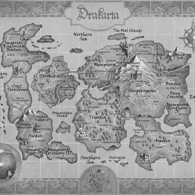 map for a fantasy book