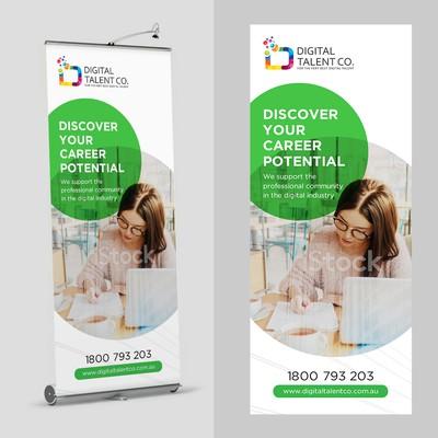 Digital Talent Roll Banner