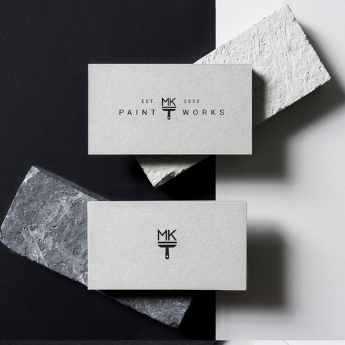 Paint design with the title 'A timeless logo for a professional painting company.'