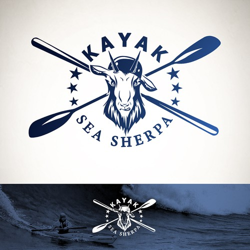 Canoe logo with the title 'Hipster logo for sea kayaking club.'