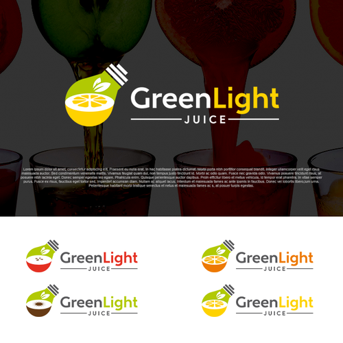 Juice bar design with the title 'Create a stunning & creative logo for a juice company!'