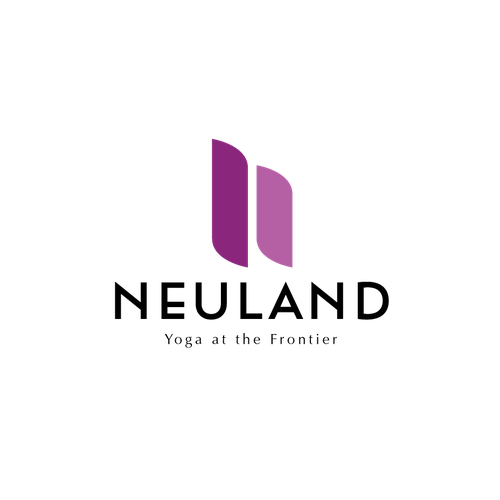 Magenta design with the title 'logo design entry for Neuland.'