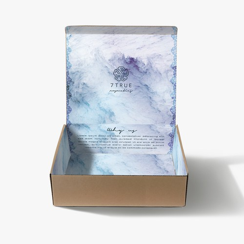 Subscription box design with the title 'Subscription box packaging'
