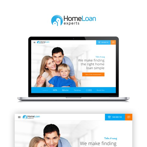 Loan design with the title 'HOMELOAN - Comparison loan home website'