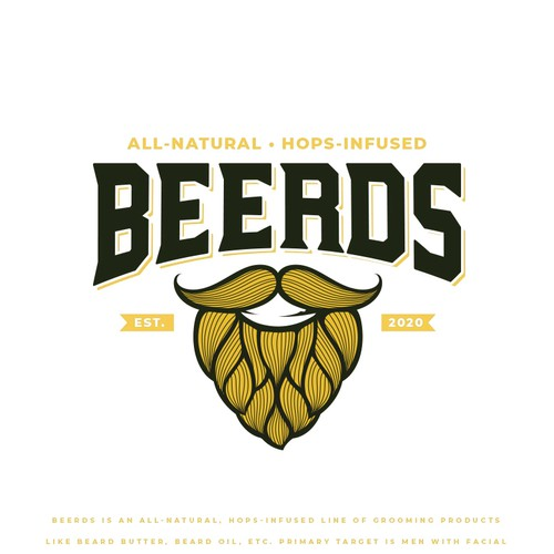 Mustache logo with the title 'BEERDS'