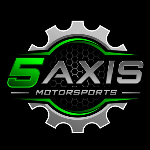 Gear logo with the title '5 Axis'