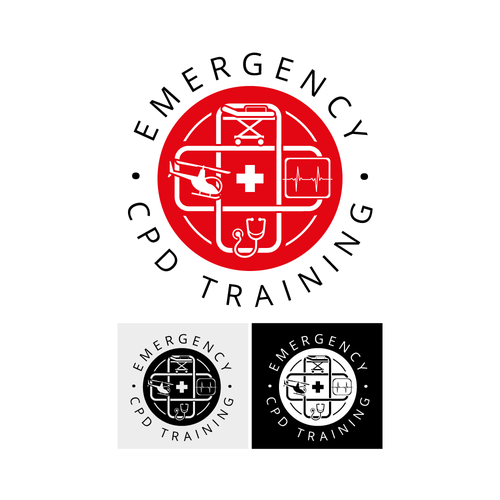 Emergency logo with the title 'Logo concept'
