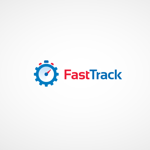 Track logo with the title 'Fast Track Logo Design'