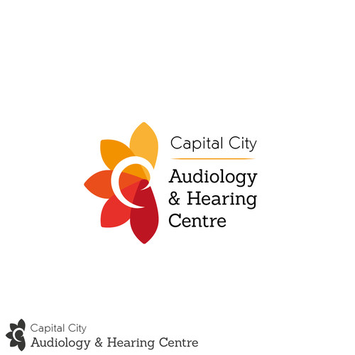 Hearing logo with the title 'Fun logo with some relationship with the ear.'