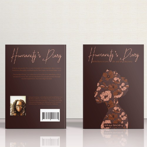 Pattern book cover with the title 'Humanity's Diary Book Cover Contest'