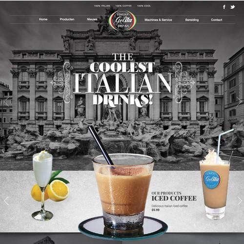 Drink website with the title 'Gelita italian drinks Website'