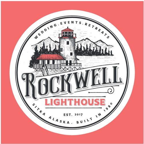 Wedding design with the title 'Logo for Rockwell Lighthouse'
