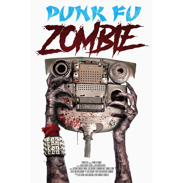 Kung fu design with the title 'Movie poster for Punk Fu Zombie'