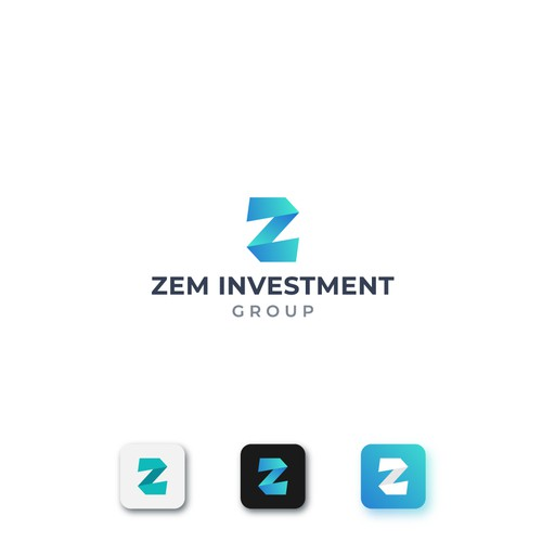 Investment logo with the title 'Logo design for investor group'