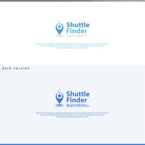 Element logo with the title 'Shuttle Finder logo design'