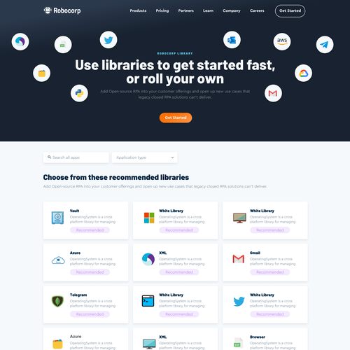 Messaging design with the title 'library page'