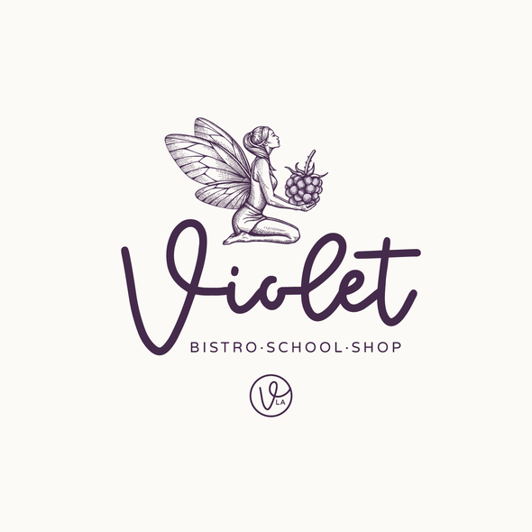 Bistro logo with the title 'Violet -  Logo upgrade'