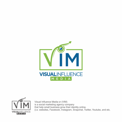 Multimedia logo with the title 'VIM'