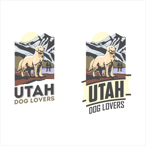 Canine logo with the title 'Utah Dog Lovers'