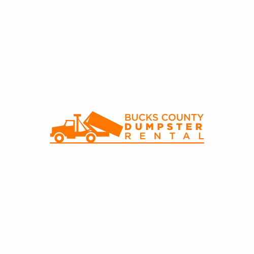 District logo with the title 'Bucks county Dumpster Rental'