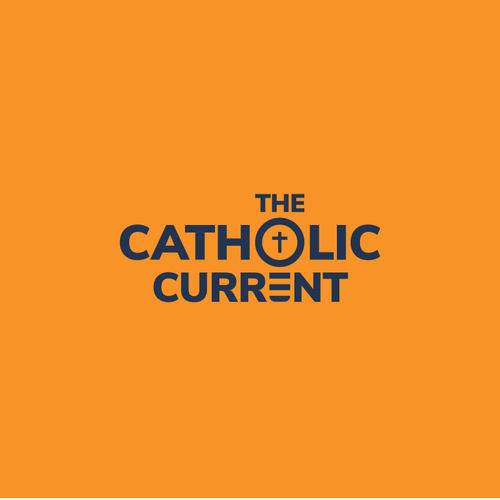 Catholic design with the title 'Logo for Radio show called The Catholic Current'