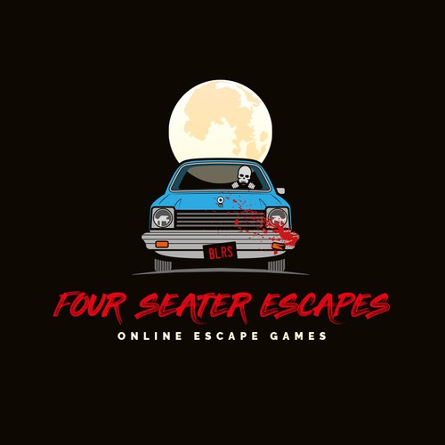 Skeleton logo with the title 'Four Seater Escapes - Online Escape Games'