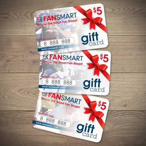 Gift card design with the title 'FanSmart Gift Card'