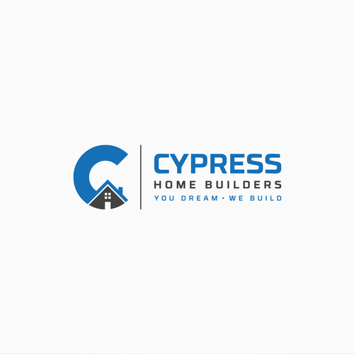Black and blue logo with the title 'Cypress Home Builders logo'