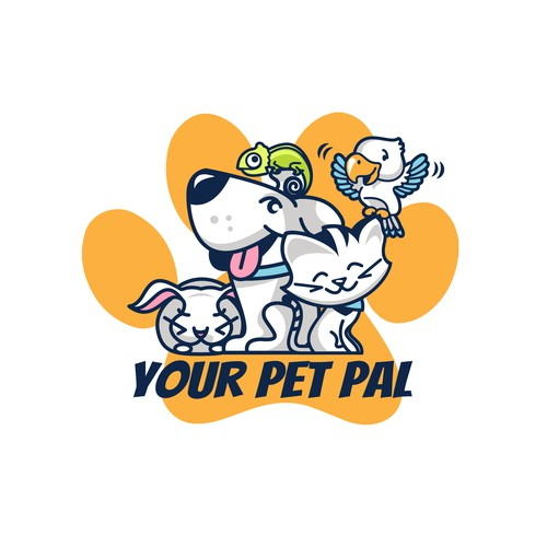 Bunny artwork with the title 'Your Pet Pal logo for pet care company'