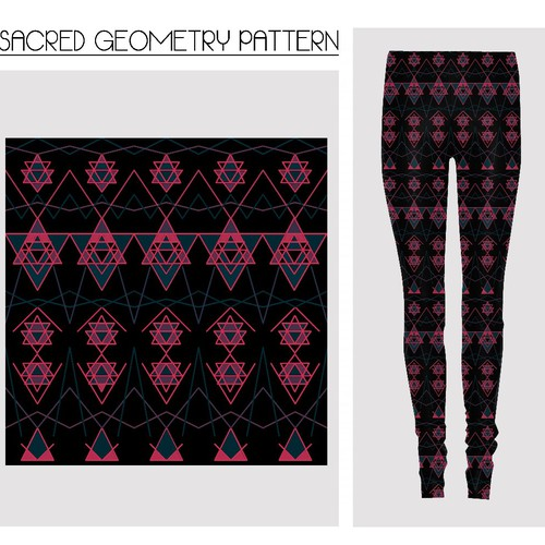 Leggings design with the title 'Sacred Geometry Pattern'