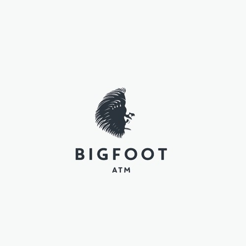 Eye-catching logo with the title 'BIGFOOT logo for Bigfoot ATM'