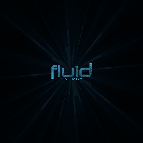 Energy drink logo with the title 'Fluid Energy'
