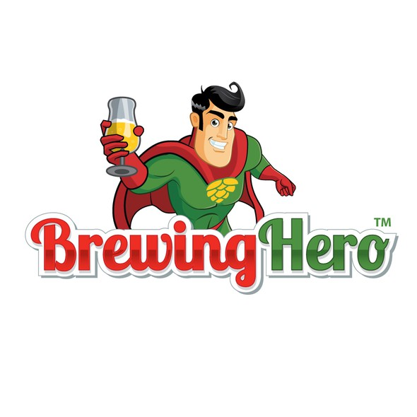 Superman logo with the title 'Brewing Hero'