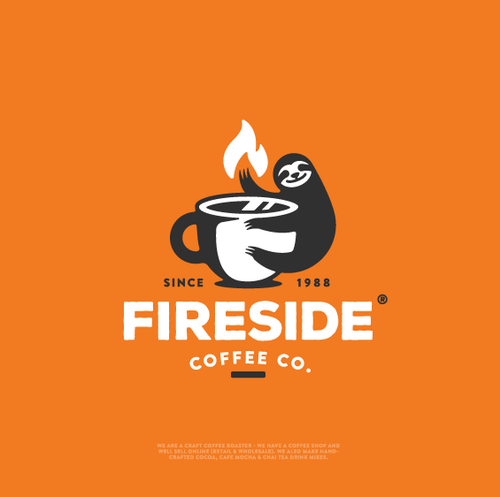 """Roast design with the title 'Branding for """"Fireside Coffee Co.""""'"""
