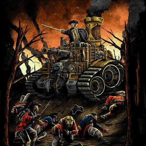 War design with the title 'george washington steampunk'