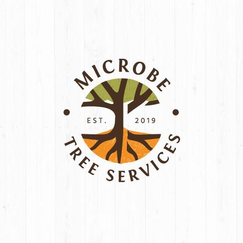 Nexus logo with the title 'Microbe Tree Services Logo'